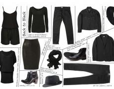 Zeitlos, elegante Styles in Schwarz